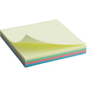 Блок стикеров 75 х 75 мм 100 шт Axent пастельный цвет, ассорти радуга (2325-01-A)