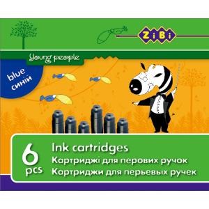 Картридж чернильный короткий ZIBI, цвет: черный (6 шт) (ZB.2272-02)