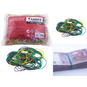 Резинки для денег Axent d/60 мм 1000 гр ассорти (4613-A)