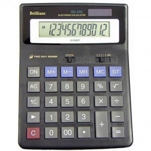 Калькулятор BRILLIANT BS-555 12 разр 155 x 205 x 15(40) мм