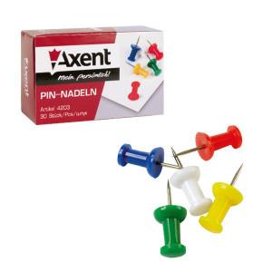 Кнопки-гвоздики цветные 30 шт Axent Боченок (4203-A)