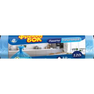 Мешки для мусора 120 л х 10 шт 70 х 110 см 10 мкм Фрекен Бок синие (16115890)