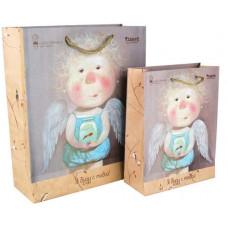 Пакет бумажный подарочный 18 х 24 х 8 см Gapchinska (8501-04)