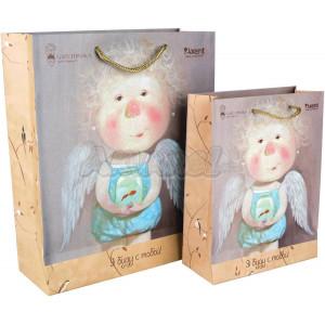 Пакет бумажный подарочный 26 х 32 х 10 см Gapchinska (8502-04)