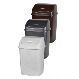Ведро для мусора пластик 18 л с качающейся крышкой (2761)