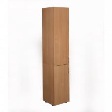 Пенал-шкаф для документов с 2-мя дверцами (350х347х1825) мм светлый бук (БЮ514/515)