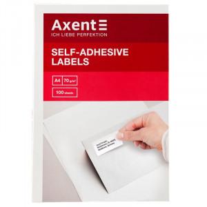 Наклейки Axent (А4/1) 210 х 297 мм х 100 шт/уп (2460-A)
