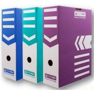 Бокс архивный картон 100 мм 250 х 352 мм BuroMax ассорти