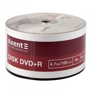 Диск DVD+R 50 шт Bulk Axent, 4.7 GB/120 min 16x