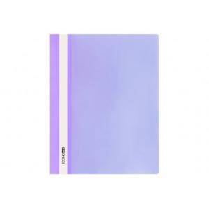 Скоросшиватель пластик. с прозр. верхом А4 (глянец) фиолет Economix (E31511-12)