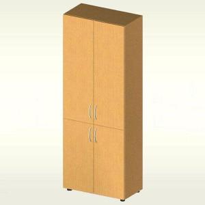 Шкаф для документов закрытый (700х347х1825) БЮ406 (яблоня локарно)
