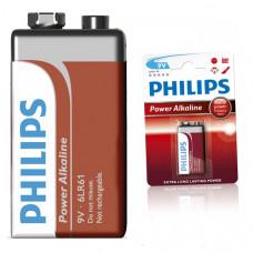 Батарейка 6LR61P1B 9V КРОНА PHILIPS Powerlife