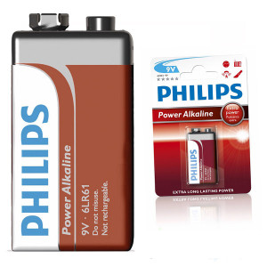 Батарейка 6LR61P1B 9V КРОНА PHILIPS Powerlife
