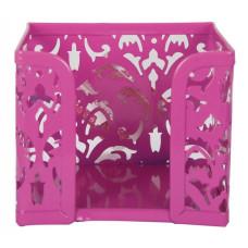 Бокс для бумаги 80 х 100 x 100 мм метал розовый Buromax Barocco (BM.6216-10)