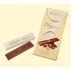 Шоколад Roshen Elegance, темный молочный с дроблеными лесными орехами, 100 гр