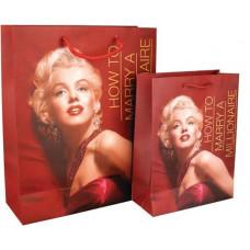 Пакет бумажный подарочный 26 х 32 х 10 см Monroe (8502-03)