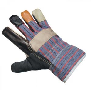 Перчатки рабочие комбинированные (кожа+х/б)