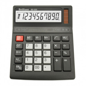 Калькулятор BRILLIANT BS-300 10 разр 137,5 x 168 x 34 мм
