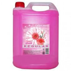 Мыло жидкое 5000 мл Regular (Цветы лета) розовое (с глицерином)