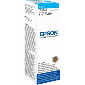 Контейнер с чернилами EPSON L100/L200 cyan (70мл) (C13T66424A)