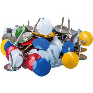 Кнопки канцелярские 100 шт Economix цветные (E41103)