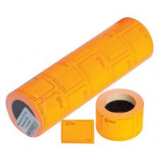 Ценники прямоугольные, 36 х 28 мм, 160 шт/рулоне (цветные), (ціна,грн, в рамке), (ЦН.П.D)