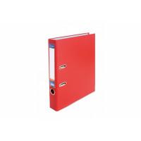 Регистратор 5 см А4 Economix 2стор покрыт, метал окант, красный, собран (E39720*-03)
