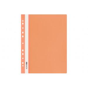 Скоросшиватель пластик. с прозр. верхом А4 (перфор глянец) оранж Economix (E31510-06)