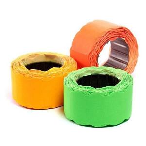 Ценники фигурные, 26 х 12 мм, цветные, 500 шт, ассорти (ЦН.Ф.А)