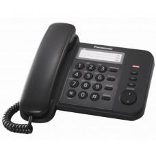 Телефон PANASONIC KX-TS2352UAB (проводной, кнопки Redial, Flash, Volume, черный)