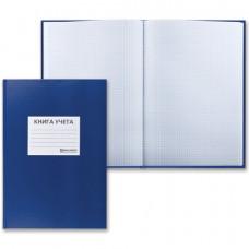 Книга учета А4 500 л клетка обл тверд бумвинил темно-синяя