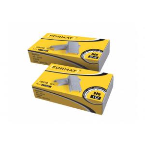 Скобы 10/5 1000 шт FORMAT (никелированные) (F47301)
