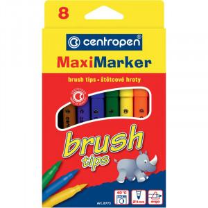 Набор фломастеров Centropen 8773 Brush 8 цв (8773/08)