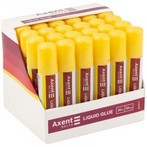Клей канцелярский ручка 30 мл силикат Axent (D7211)
