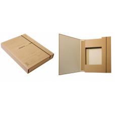Папка-архив картонная на резинке (для нотариуса) (А4) 20 мм коричневый крафт (iTEM316)
