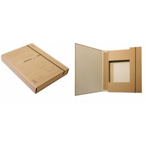 Папка-архив картонная на резинке (для нотариуса) (А4) 20 мм коричневый крафт (iTEM316\10PR)