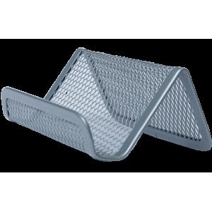 Подставка для визиток настольная 95 х 80 х 60 мм металл серебро Buromax (BM.6225-24)