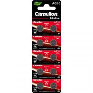 Батарейка-таблетка AG10, LR1130, 10 на блистере  CAMELION