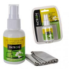 Набор для чистки экранов PATRON 2 в1 (Спрей 50 мл + Салфетка) (F4-008)