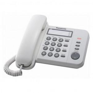 Телефон PANASONIC KX-TS2352UAW (проводной, кнопки Redial, Flash, Volume, белый)
