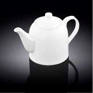 Чайник для заварки чая Wilmax, фарфоровый, 900 мл (белый), (WL-994007)