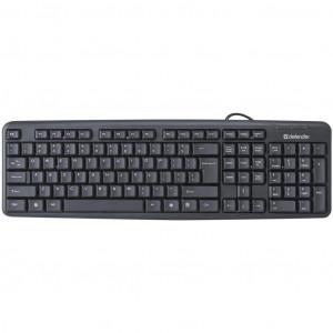Клавиатура проводная Defender Element HB-520 (45522), USB черная