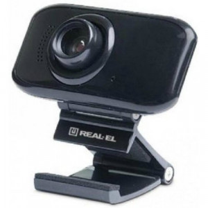 Веб-камера REAL-EL FC-250, black