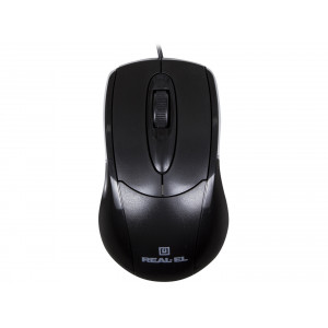 Мышь REAL-EL RM-207, USB, black