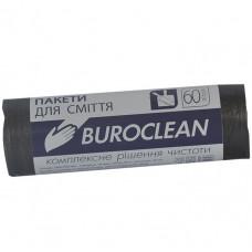 Мешки для мусора 60 л х 40 шт 58 х 70 см 10 мкм (HDPE) BuroClean черные (10200035)