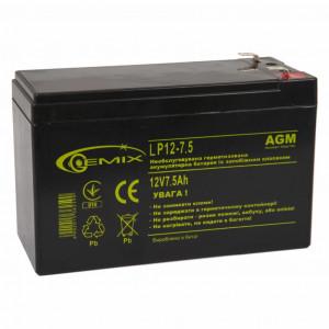 Аккумулятор для ИБП 12В 7.5 Ач GEMIX (LP12-7.5)