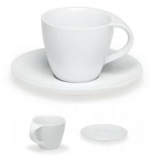 Чашка с блюдцем, белая СИМОНА (200 мл.)