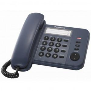 Телефон PANASONIC KX-TS2352UAC (проводной, кнопки Redial, Flash, Volume, синий)