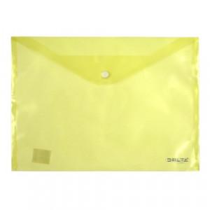 Папка на кнопке пластик (А4) Axent полупрозрачн желтая (D1402-26)