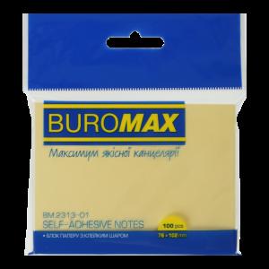 Блок бумаги для заметок 76x102мм 100л желтый Buromax (BM.2313-01)